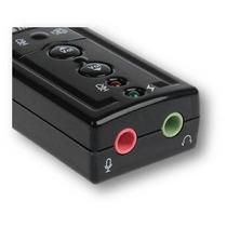 Adaptador Placa De Som Usb 7.1 P/ Entrada P2 Fone Microfone
