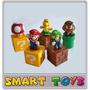 Conjunto 5 Bonecos Do Mario - Kit Mushroom Blocos Cano Koopa