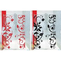 Adesivo Decorativo Parede Box Banheiro Floral Flor Porta