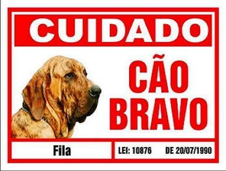 Placa De Advertência. Fila . Frete Gratis P/ Todo O Brasil
