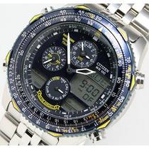Jn0040-58l Relógio Citizen Navyhawk Blue Angels Aço