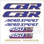 Kit Adesivos Honda Cbr 450sr 1989 Branca E Azul - Decalx