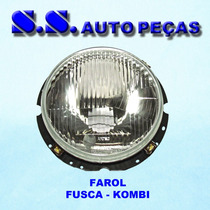 Farol Fusca Komb Original Arteb 75 Lente De Vidro 1975 / ..