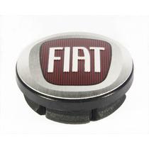Calota Fiat Para Rodas Esportivas Com Emblema Vermelho