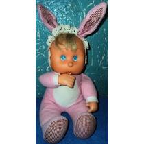 Boneca Bebê Antiga Da Multibrink Chupa O Dedinho Lind (b1)