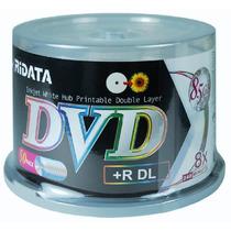 Dvd+r Dl Ridata 8x Printable Com 50 Peças Pino
