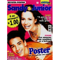 Revista-pôster Super Astros Pop Extra 1 * Sandy & Junior