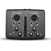 M-audio M-track 2 Canais De Áudio Portátil Usb E Interface