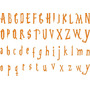 Adesivo Az08 Alfabeto Cartela Fonte Harry Potter Infantil