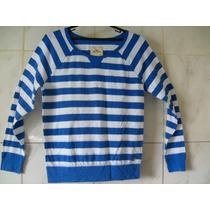 Camiseta Hollister Listrada Tamanho P 58cm X 48cm