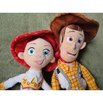 Conj. 3 Bonecos Woody Jessie E Buzz Grandes Toy Story