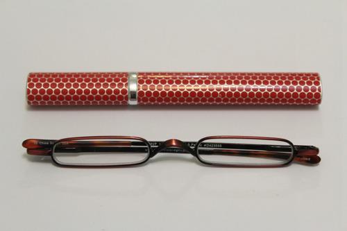 970829aa7 Óculos Leitura Micro Vinho - Estojo Tubo Alumínio Vermelho