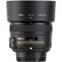 Lente Nikon 50mm Af-s F/1.8g Case Para-sol Garantia 1 Ano