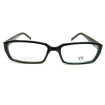 Armação Em Acetato Preto - Óculos P/ Lentes De Grau Mod 7216