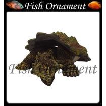 Enfeite Aquario Resina Soma Tartaruga Mata Fish Ornament