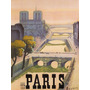 Vista De Paris Rio Sena Cidade Luz Largo Antigo Poster Repro
