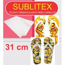 Sublitex- Tecido Termocolante P/ Chinelos - 31cm - 1 Mt
