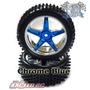 Jogo De Rodas Cromadas + Pneus 1/10 Buggy Off-road Exceed Rc