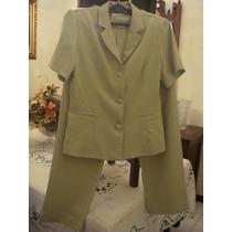 Terno Blazer E Calça Tam. 38 M Verde Terninho
