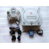 Dreamcast Americano + Controle + Cabo Av E Garantia! 100 Ok