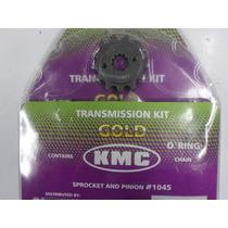 Kit Relação Kmc C/ Retentor Fan 125 2009*/2012 Aço 1045