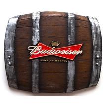 Quadro Barril Decorativo Horizontal Budweiser - Frete Grátis