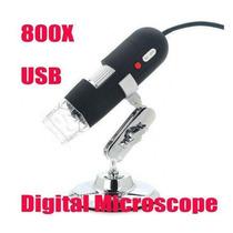 Microscópio Digital Usb Câmera 2mp Ampliação 20x/800