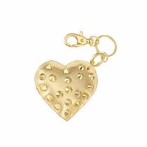 Chaveiro Coração Dourado Com Spike