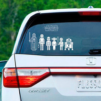 Adesivos Carro Família Feliz Star Wars Frete Grátis