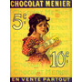 Segura Chocolate Menier Garota 10 Paris França Poster Repro