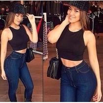 Calça Jeans Cós Alto Com Elastano Atacado Com 6 Peças