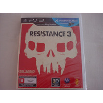 Playstation 3 : Resistance 3 Novo Lacrado Manual Português