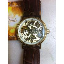 Relógio Graf Von Monte Wehro Skeleton Dourado