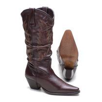 Bota Feminina Em Couro 100% - Texana - Country - Western :