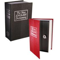 Cofre Camuflado Formato De Livro Dicionário Com Chave Médio