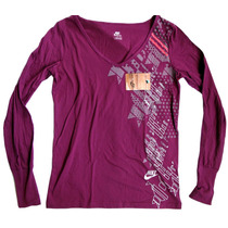 Camiseta Manga Longa Nike, M, Feminina, 100% Original