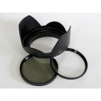 Canon T4i T4 Parasol+ Filtro Uv + Polarizador Circular 58mm