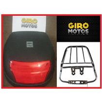 Bau Moto 28l + Bagageiro Titan / Ybr / Yes / Fan + Brinde