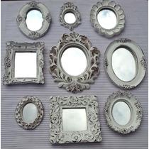 Kit 9 Espelhos Com Moldura Rococó De Resina