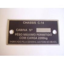 Tarjeta Chassis Chevrolet C14 C10 Veraneio Gustavo Brasil