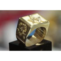 Anel Em Ouro 18k 0.750 Maçonaria