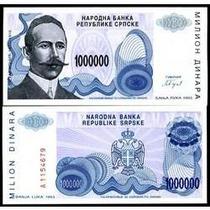 Bósnia Herzegovina 1 Milhão Dinara 1993 P.152 Fe Cédula Bela