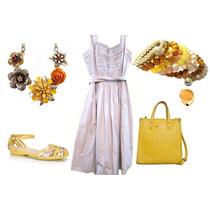 Vestido Casual Zara Tricoline Cor Bege Caque