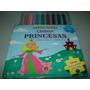 Livro Infantil Lindas Princesas 5 Quebra Cabeças 3 Anos