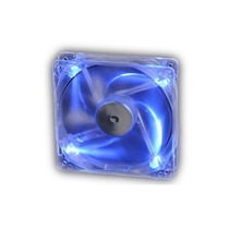 Cooler Fan Akasa Crystal C/ 4 Led´s - Azul 8x8 Ak-170cb-4bls