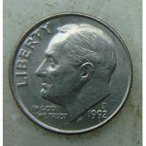 530 - Usa One Dime Liberty 1992, Letra P - Tocha 18mm