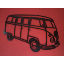 Raro!!!quadro Decorativo Mdf 9mm Kombi Antiga