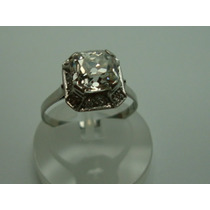 Anel Retro De Platina Com Diamantes 1.91 Cts Jr Joalheiro
