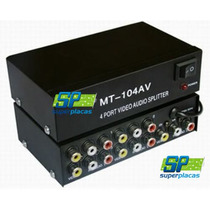 Distribuidor Transmissor Mt-104av 4 Portas Audio Video