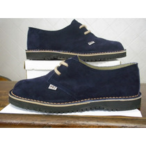 Sapato Em Couro Camurça Legitimo Azul Marinho 45/46/47/48/49
